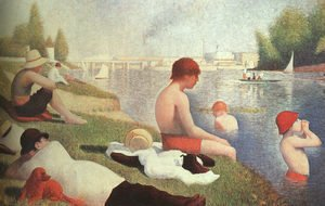 Georges Seurat - Bathing At Asnieres 1884