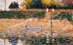 Georges Seurat - Boats Near The Beach At Asnieres