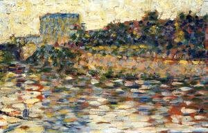 Georges Seurat - Courbevoie  Landscape With Turret