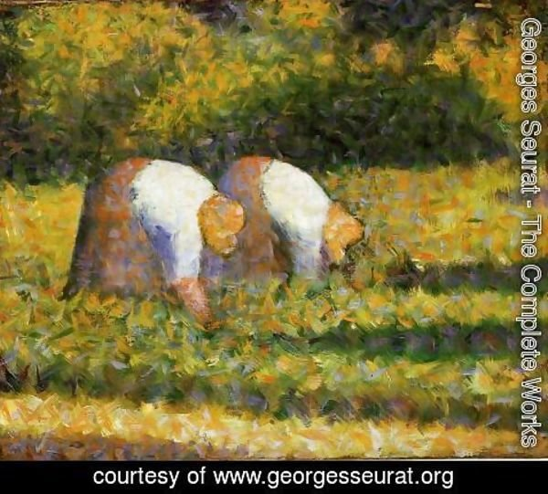 Georges Seurat - Farm Women At Work