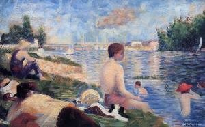 Georges Seurat - Final Study For Bathing At Asnieres