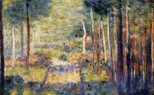 Georges Seurat - Forest Path  Barbizon