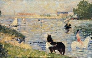 Georges Seurat - Horses In The Water