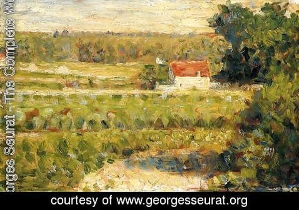 Georges Seurat - House With Red Roof