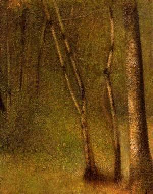 Georges Seurat - In The Woods At Pontaubert