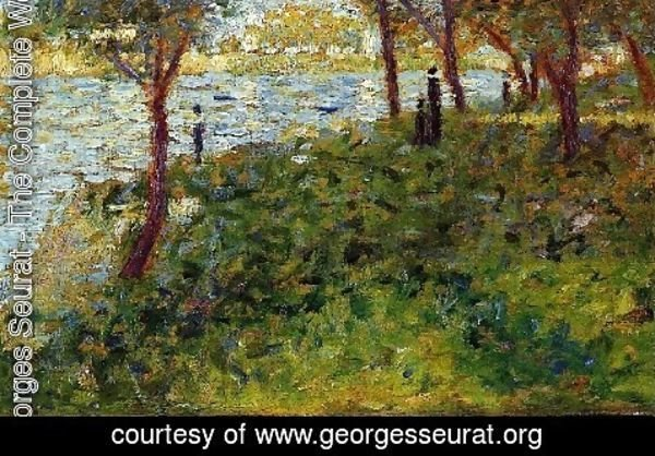 Georges Seurat - Landscape With Figures