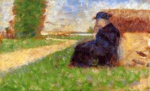 Georges Seurat - Large Figure In A Landscape
