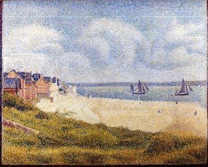 Georges Seurat - Le Crotoy  Downstream