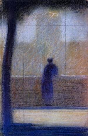 Georges Seurat - Man Leaning On A Parapet