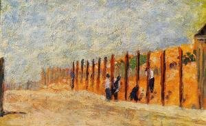 Georges Seurat - Peasants Driving Stakes