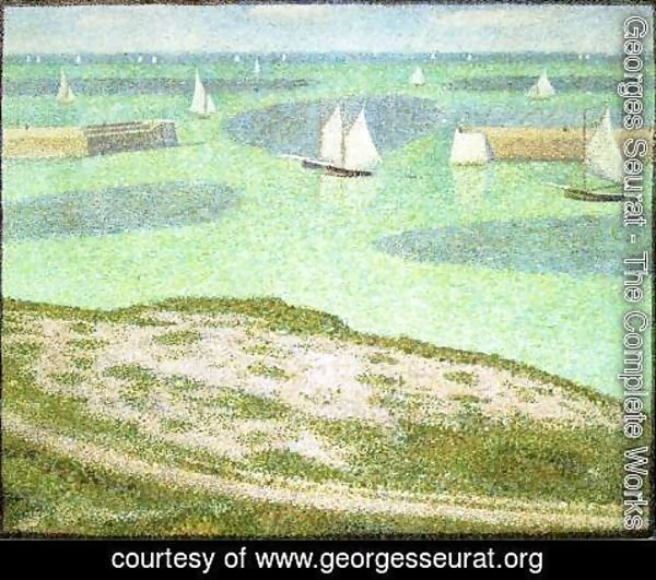 Georges Seurat - Port En Bessin  Entrance To The Outer Harbor