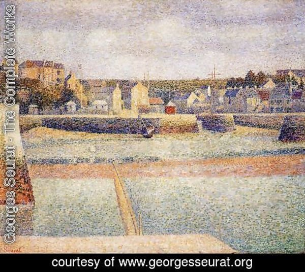 Georges Seurat - Port En Bessin  The Outer Harbor  Low Tide