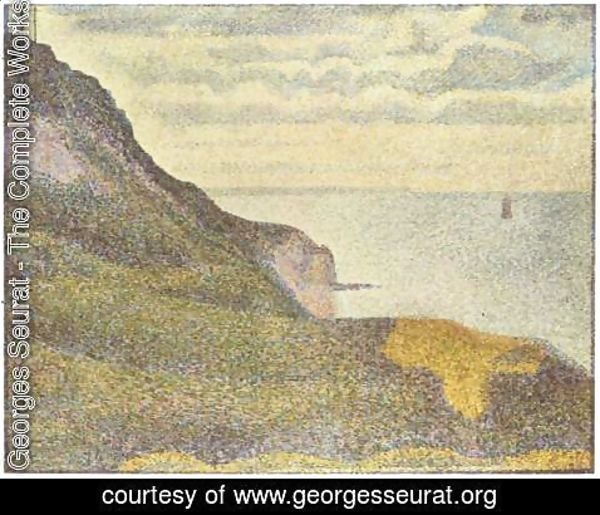 Georges Seurat - Port En Bessin  The Semaphore And Cliffs