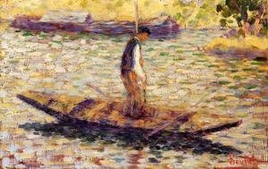 Georges Seurat - Riverman Aka Fisherman