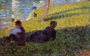 Georges Seurat - Seated Man  Reclining Woman