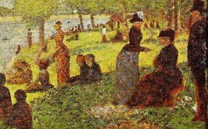 Georges Seurat - Sketch With Many Figures