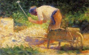 Georges Seurat - Stone Breaker And Wheelbarrow  Le Raincy