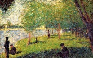 Georges Seurat - Study With Figures