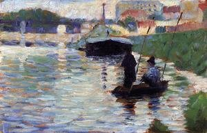 Georges Seurat - The Bridge   View Of The Seine