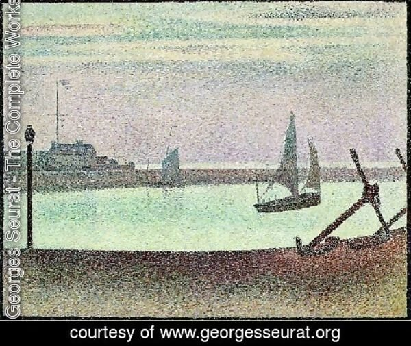 Georges Seurat - The Channel At Gravelines  Evening
