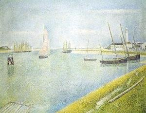 Georges Seurat - The Channel At Gravelines  In The Direction Of The Sea