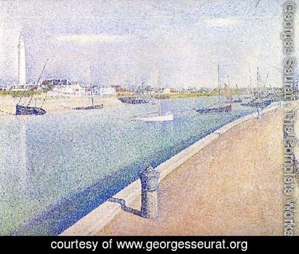 Georges Seurat - The Channel At Gravelines  Petit Fort Philippe