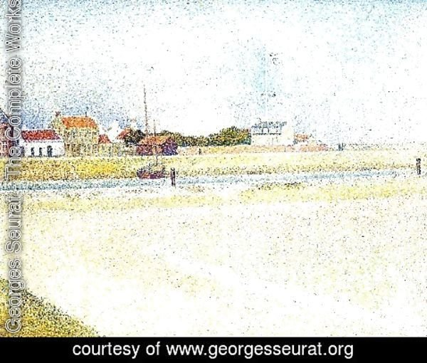 Georges Seurat - The Channel At Gravelins  Grand Fort Philippe