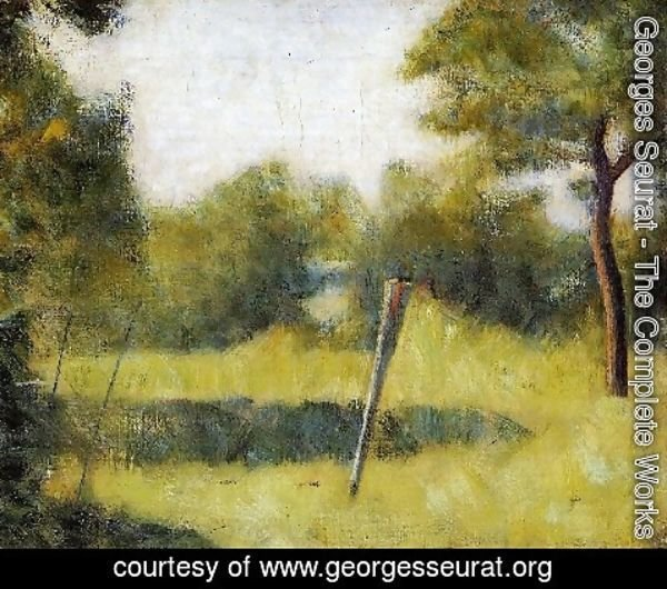 Georges Seurat - The Clearing Aka Landscape With A Stake