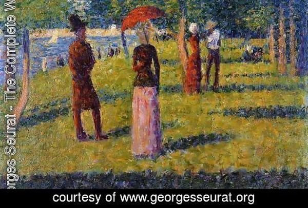 Georges Seurat - The Rope Colored Skirt