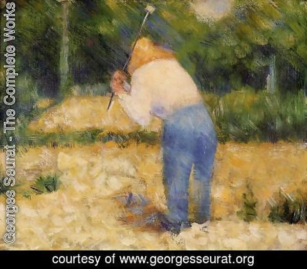 Georges Seurat - The Stone Breaker2