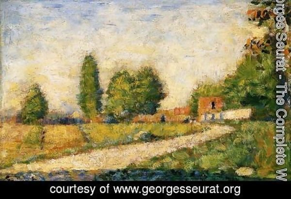 Georges Seurat - Village Road