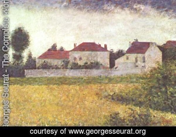 Georges Seurat - White Houses  Ville D Avray