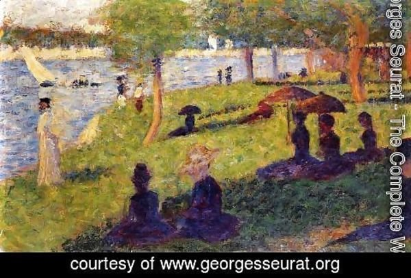 Georges Seurat - Woman Fishing And Seated Figures