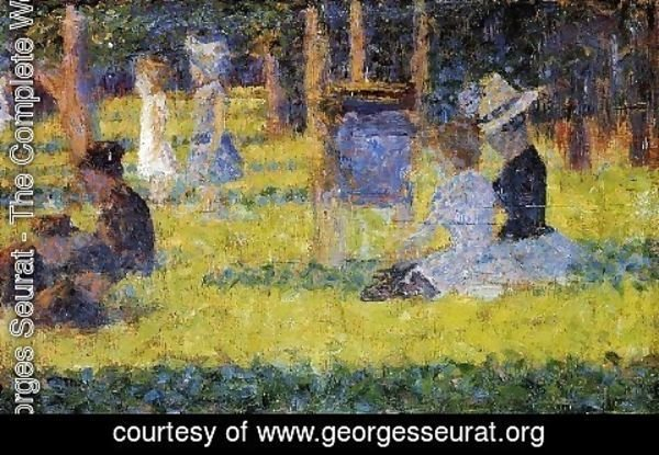 Georges Seurat - Woman Seated And Baby Carriage