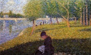 Georges Seurat - Woman Sewint