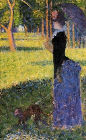 Georges Seurat - Woman With A Monkey