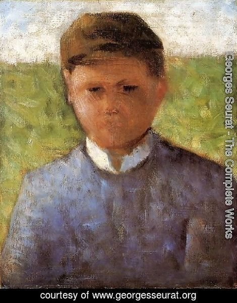 Georges Seurat - Young Peasant In Blue