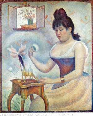 Georges Seurat - Young Woman Powdering Herself 1888-90