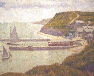Georges Seurat - Port-en-Bessin, Outer Harbour at High Tide